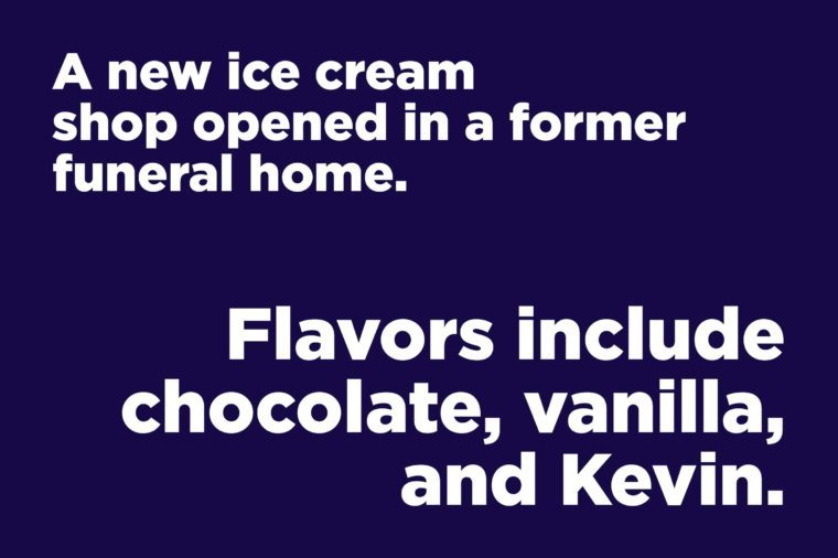 funeral home ice cream