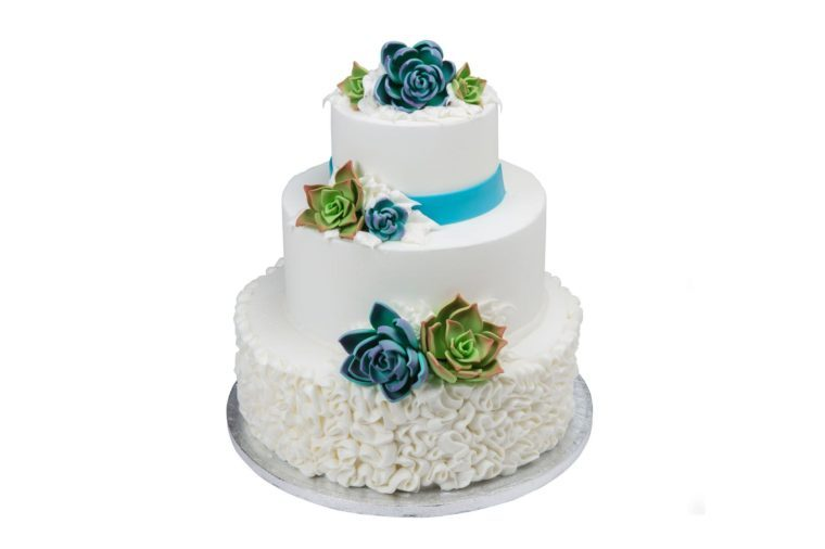 3 Tier White Cake with But'r'creme Icing - 1-1ozs