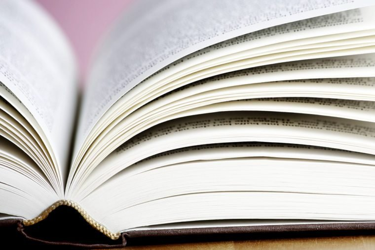 Close up photo of a open book
