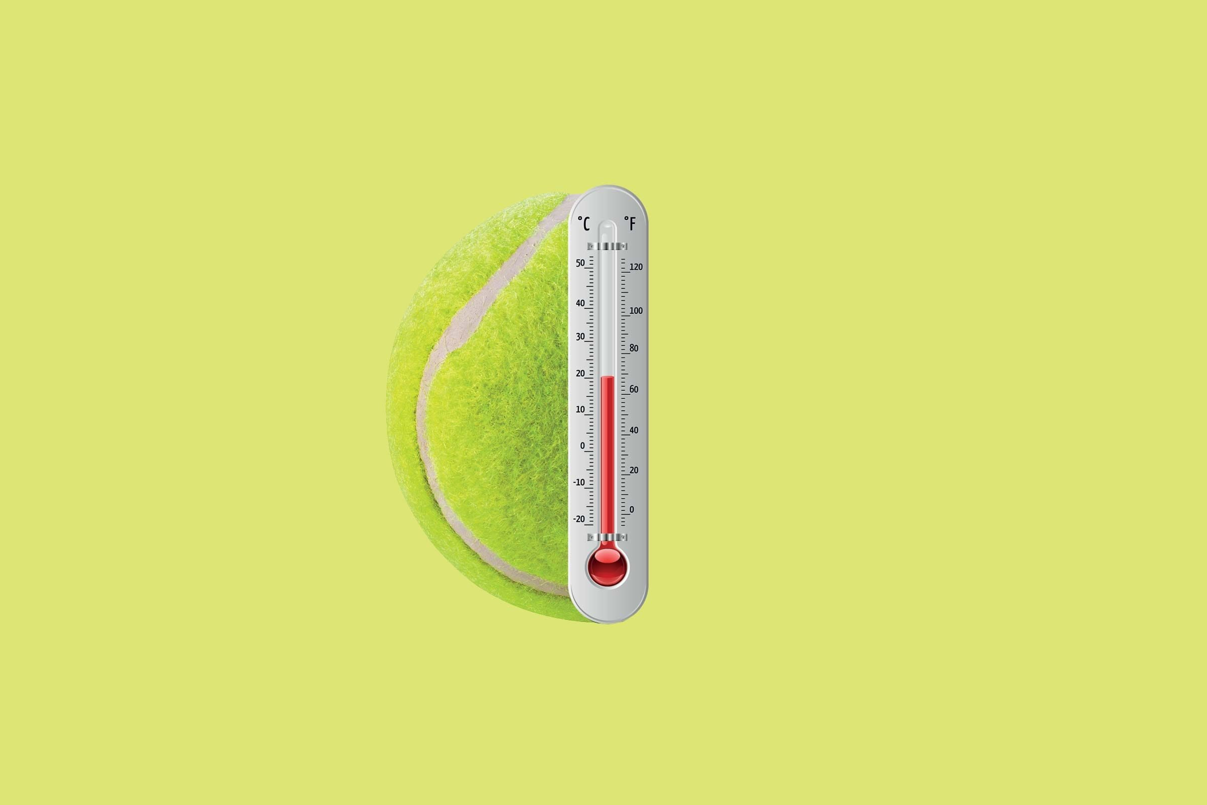wimbledon tennis balls are kept at 68 degrees F
