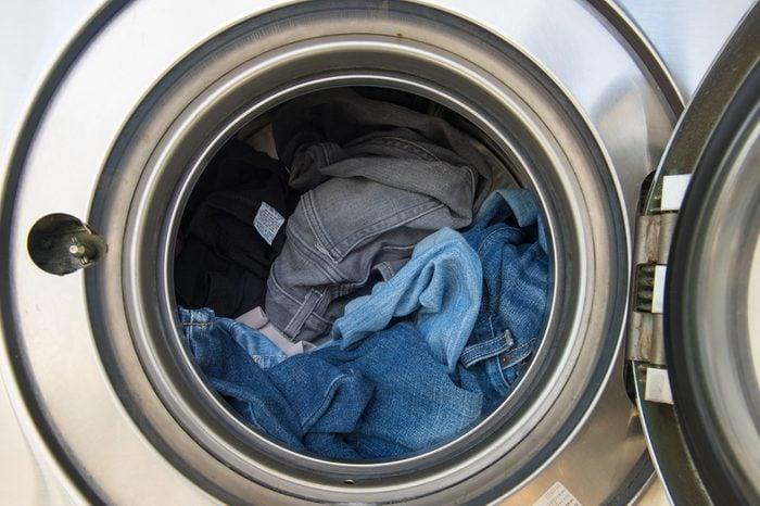 Laundry machine at work