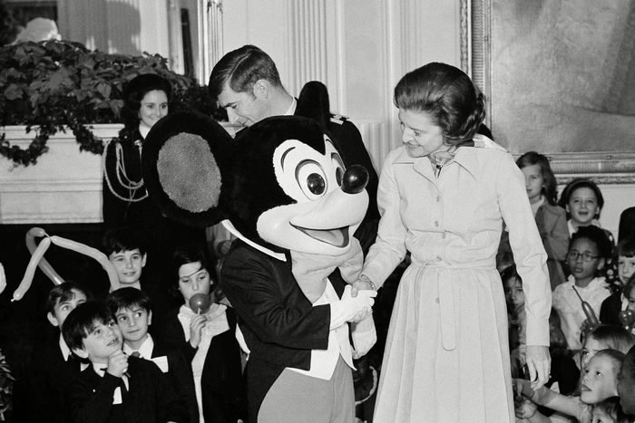 Betty Ford and Mickey