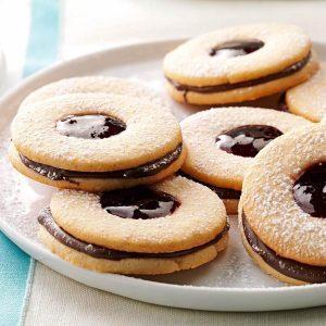 Alaska: Chocolate Linzer Cookies