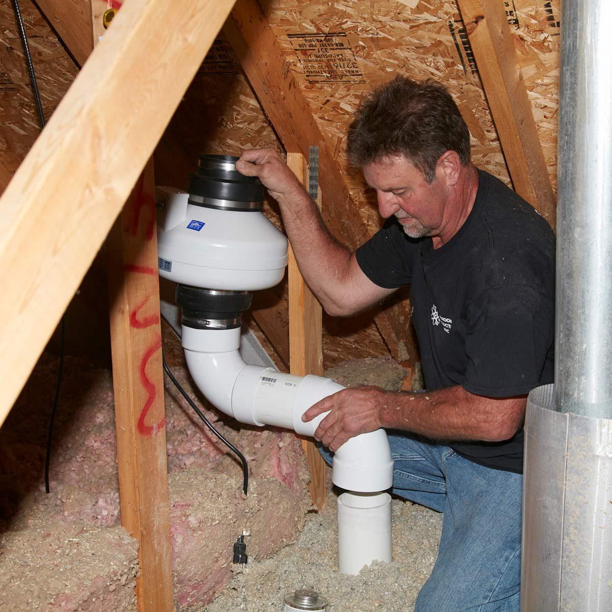 FH17MAR_576_52_029 radon fan in attic