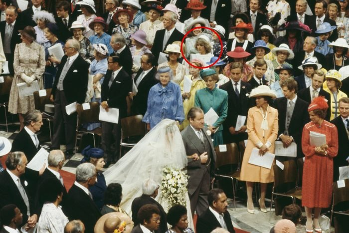 Diana, the bride arrives on the arm of her father, John Spencer, 8th Earl Spencer.