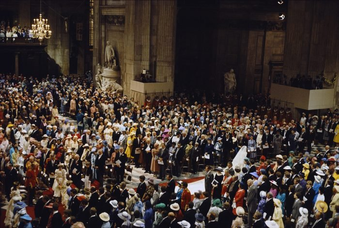 The wedding of Charles, Prince of Wales, and Lady Diana Spencer, at St Paul's Cathedral in London, UK, 29th July 1981