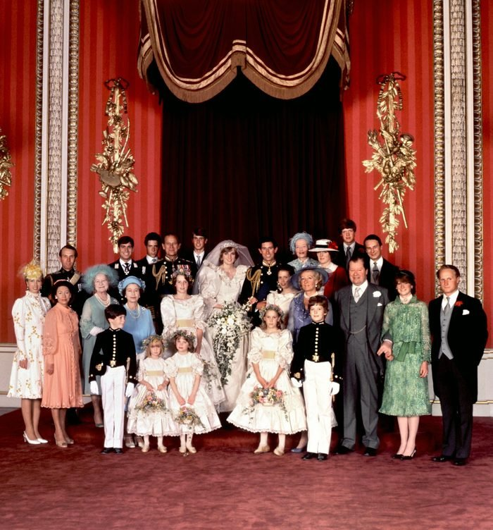 An official family photo taken on 29 July 1981, the wedding day