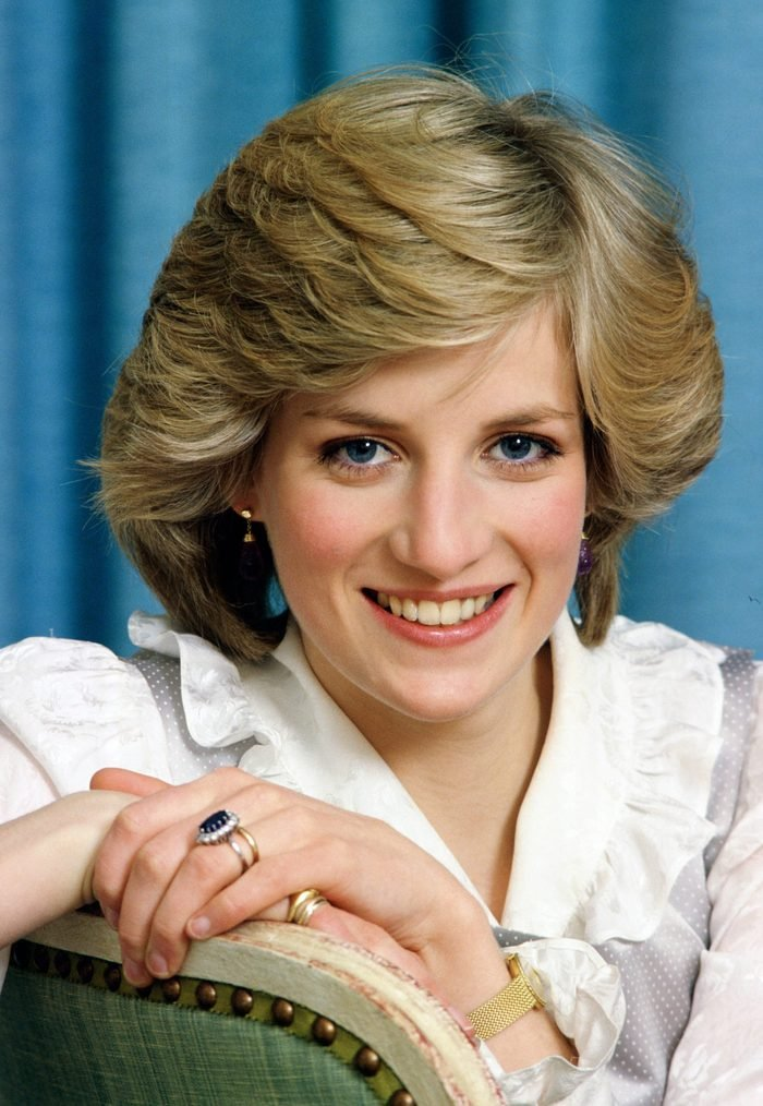 Diana, Princess Of Wales At Home posing for portrait In Kensington Palace