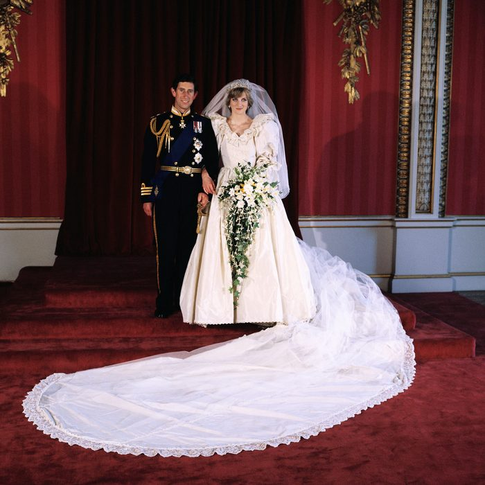 Diana, Princess of Wales and Prince Charles pose for the official photograph by Lord Lichfield in Buckingham Palace at their wedding on July 29, 1981 in St. Pauls Cathedral, London