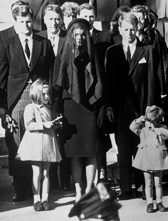 Kennedy family at funeral