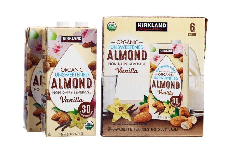 Kirkland Signature Organic Vanilla Almond Beverage Cartons 32 fl. oz, 6-count