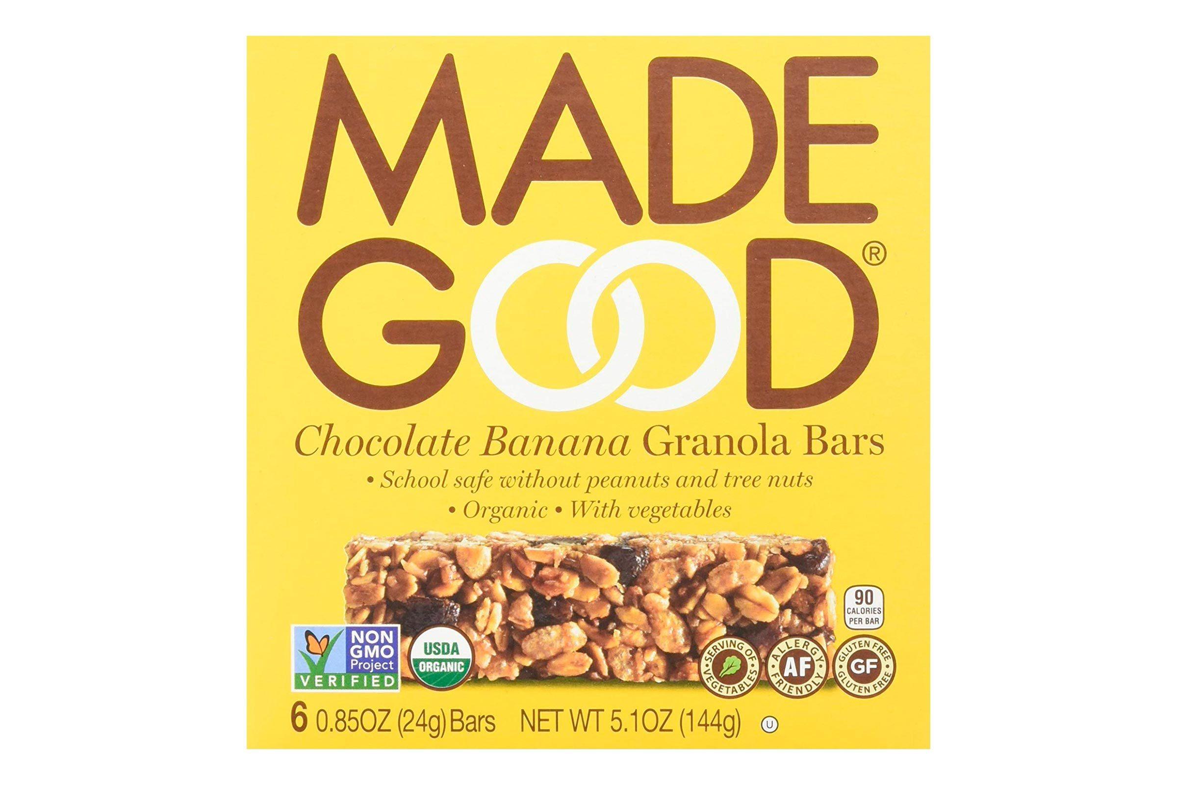 MadeGood granola bars
