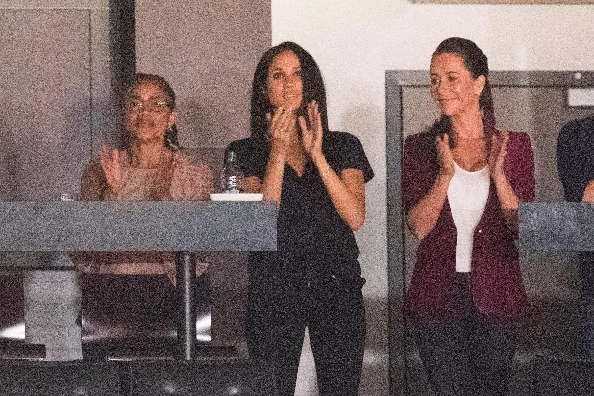 Meghan Duchess of Sussex with friends and family