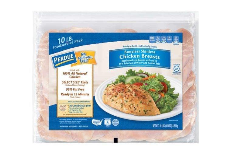 Perdue No Antibiotics Ever Chicken Breasts, Boneless Skinless, 10 lbs
