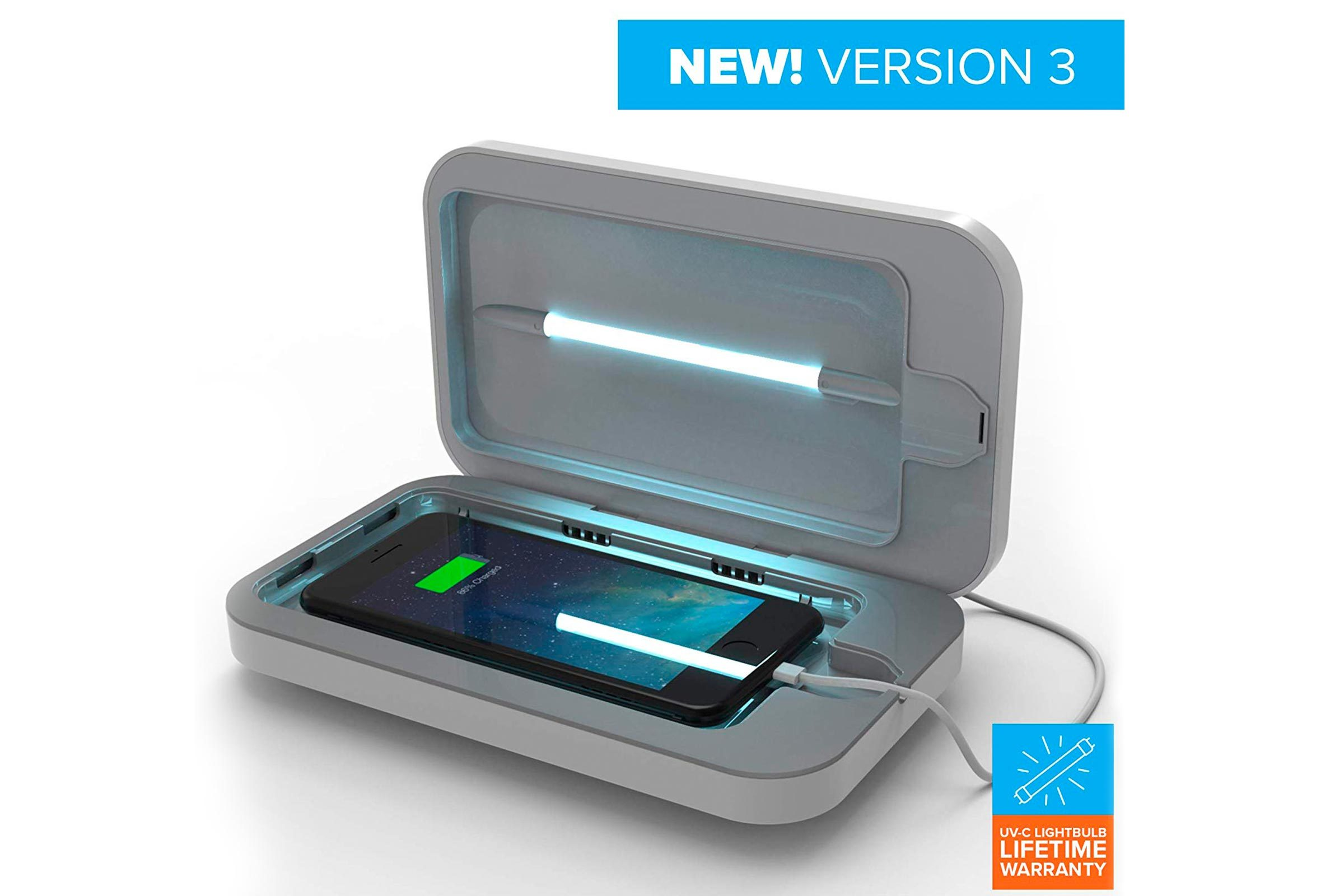Phone sanitizer and charger