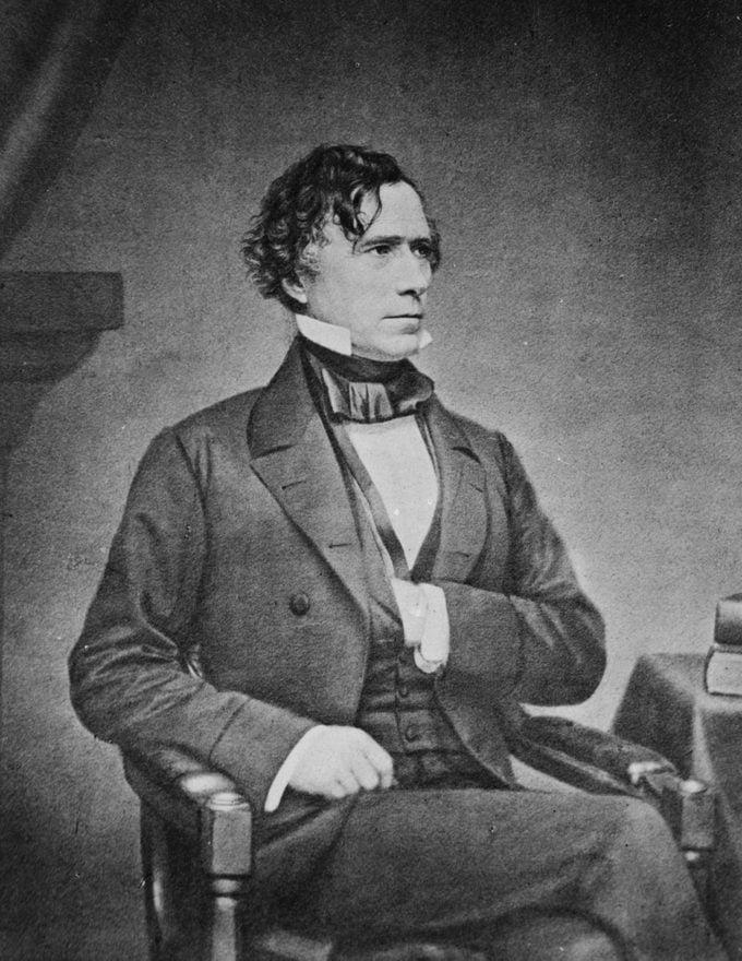 President Franklin Pierce. by Matthew Brady, 1850s.