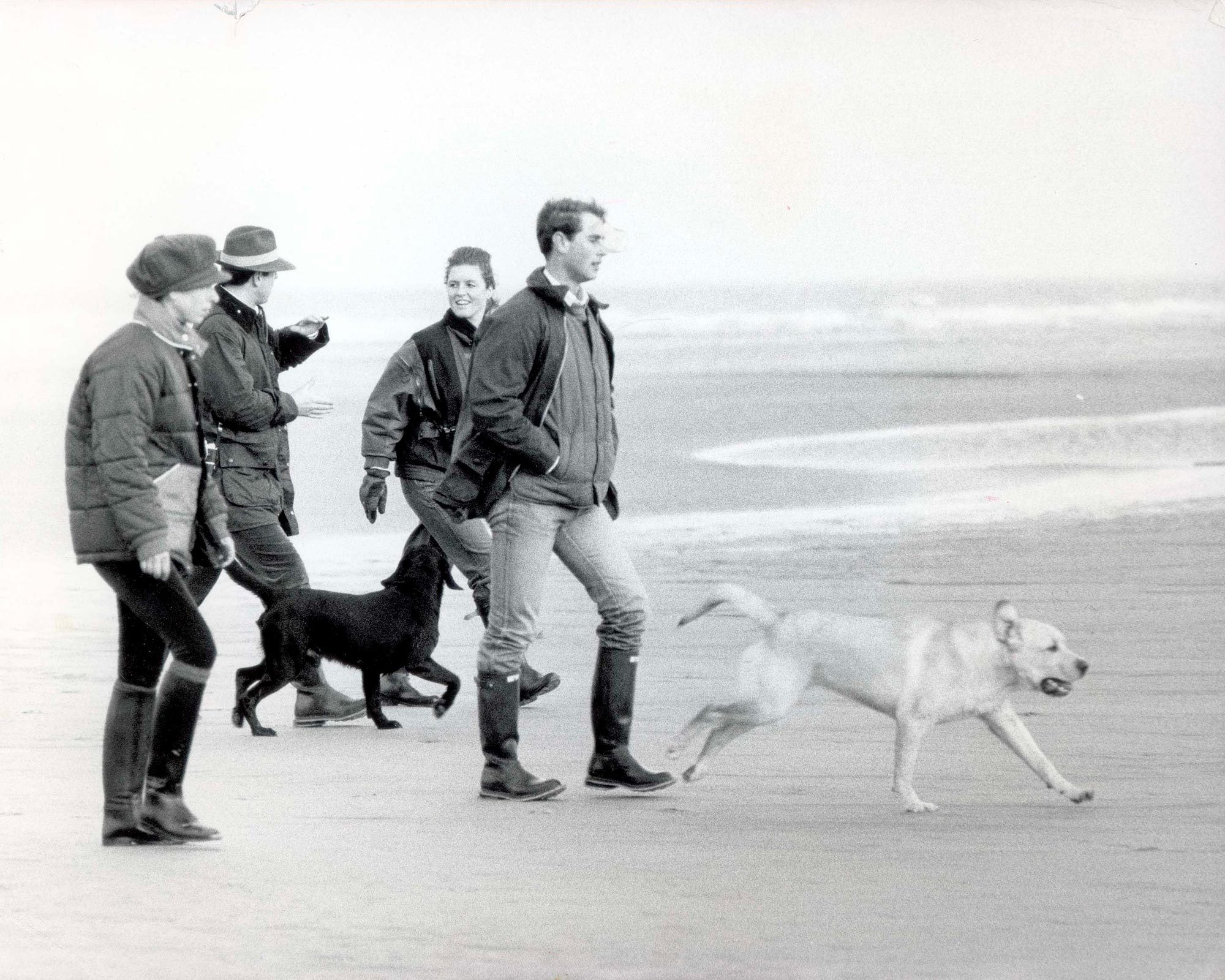 Princess Anne plus others on beach