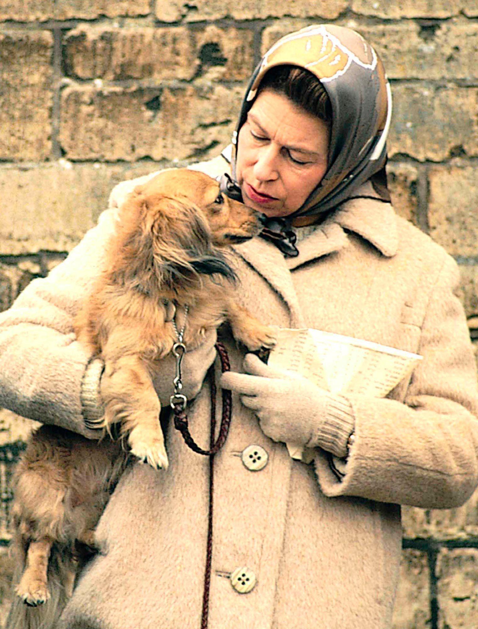 Queen Elizabeth II and her Dorgi