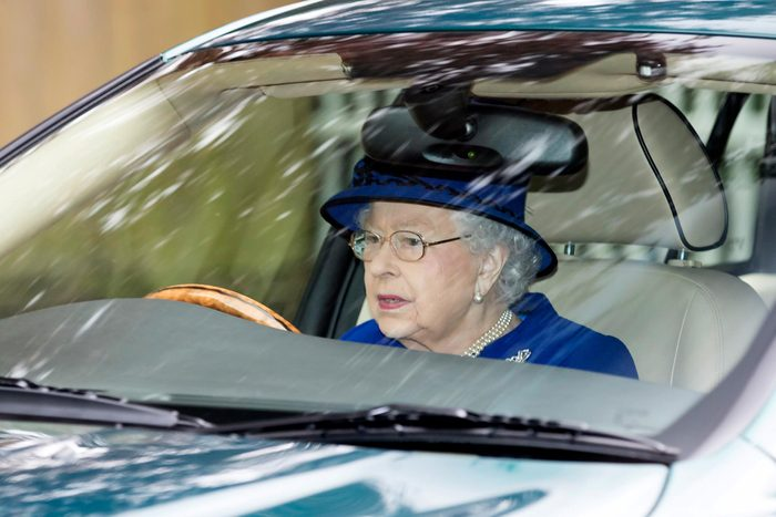 Queen Elizabeth II driving