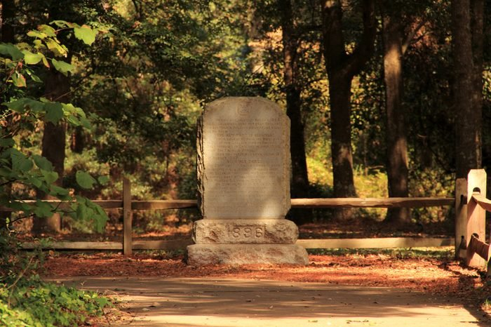 Virginia Dare Monument at the Fort Raleigh National Historic Site on Roanoke Island, North Carolina