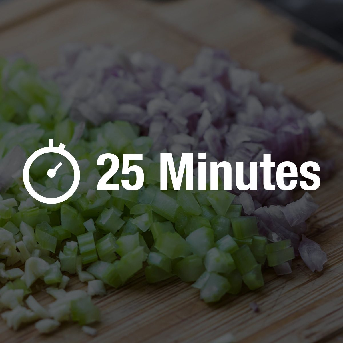 Cooking dinner, chopped vegetables onions, garlic, celery