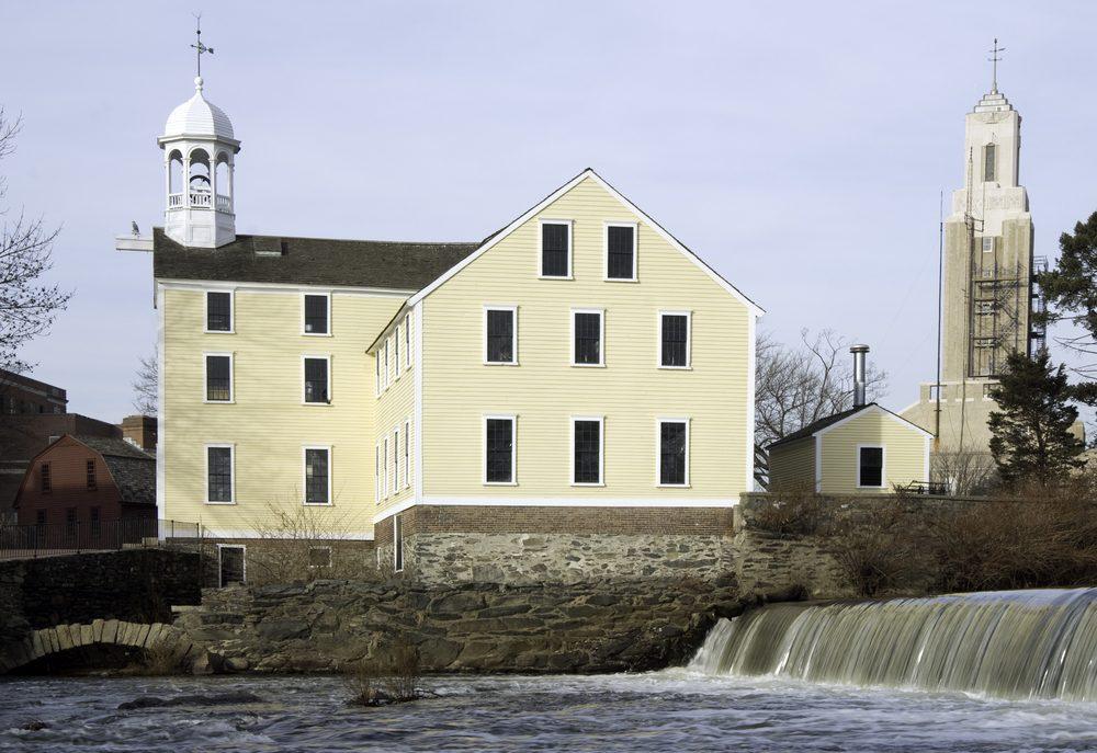 Slater Mill on the Blackstone River in Pawtucket, Rhode Island