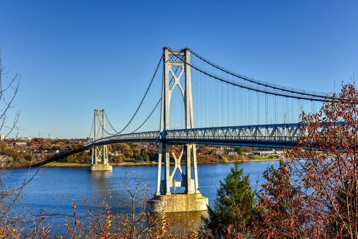 Mid-Hudson Bridge crossing the Hudson River in Poughkeepsie, New York