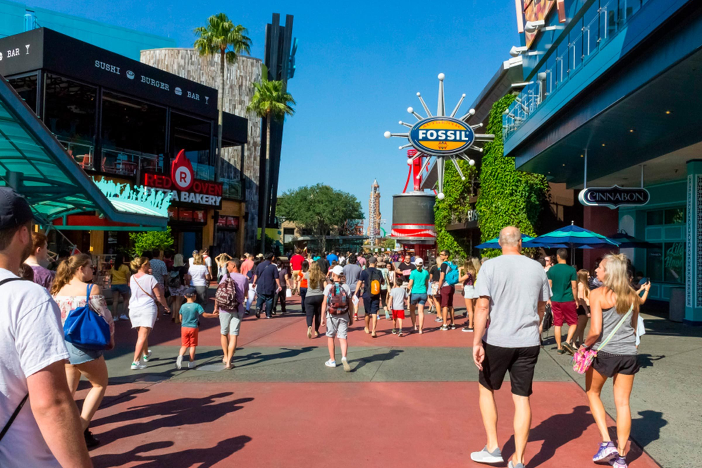 Universal city walk shopping disney