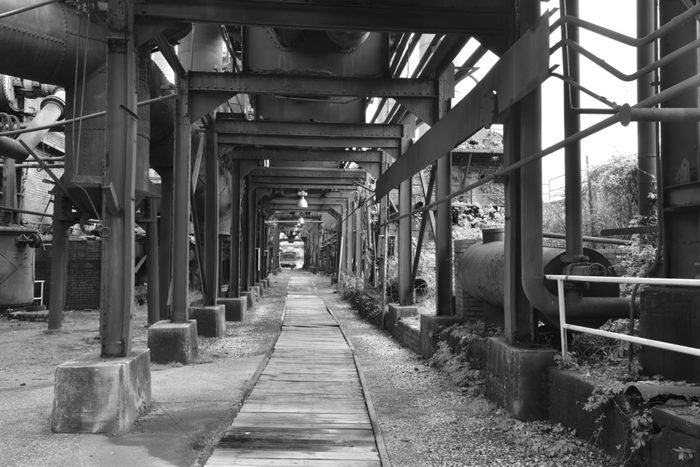 Sloss furnace in Birmingham, Alabama, USA