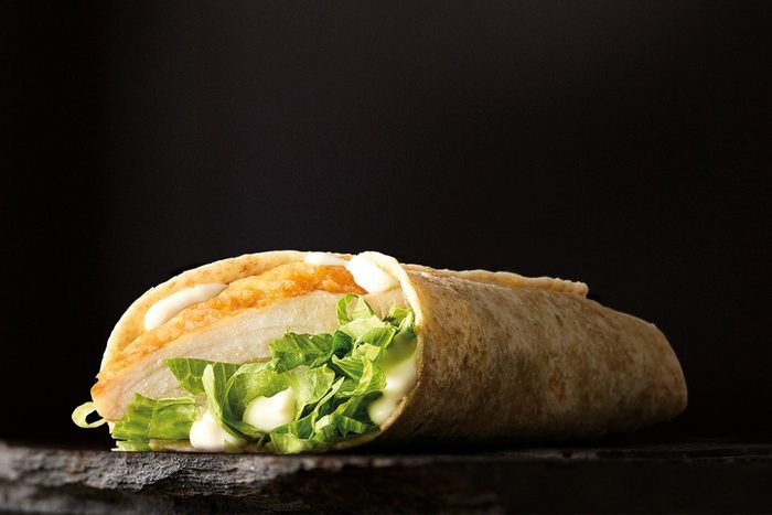 Wholemeal snack wrap