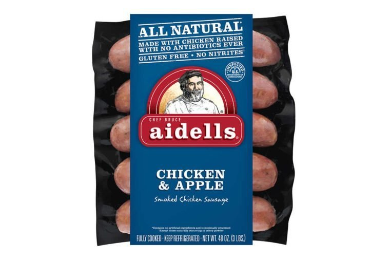 Aidells Smoked Chicken Sausage, Chicken & Apple, 3 lbs