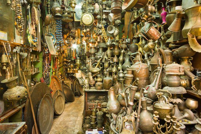 a souvenir shop at the old city of Jerusalem