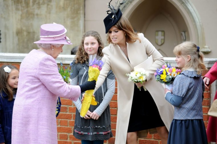 British Royalty attending Easter Service at St George's Chapel, Windsor Castle, Berkshire, Britain - 08 Apr 2012