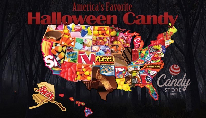 halloween candy map