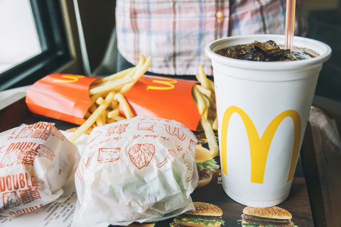 Chiangmai, Thailand - December 09 2017:McDonald's French Fries in a McDonald's restaurant