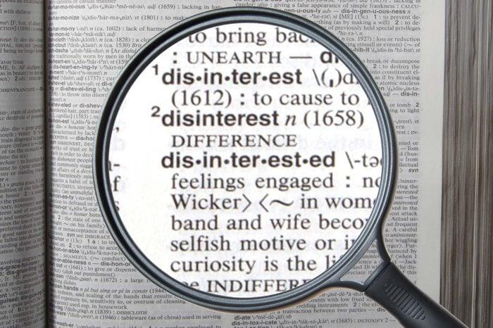 disinterested