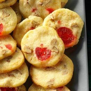Oklahoma: Cherry-Pecan Icebox Cookies
