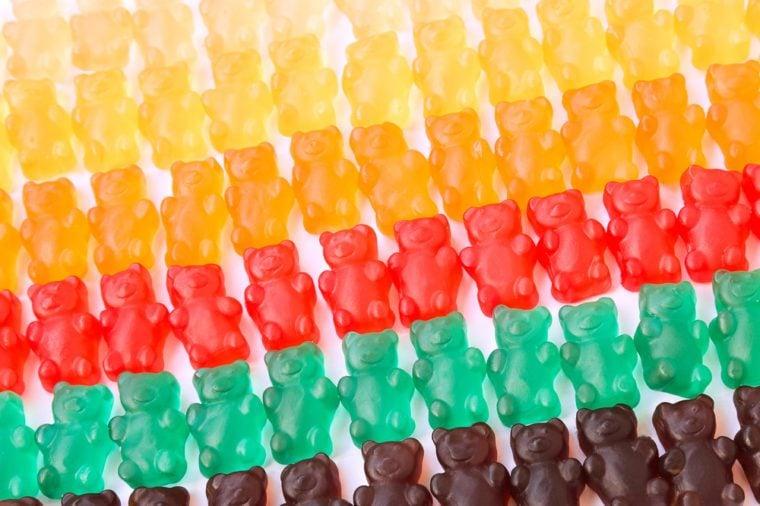 gummy bears series background texture closeup