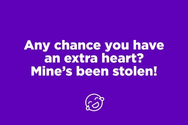 stolen heart pick up line