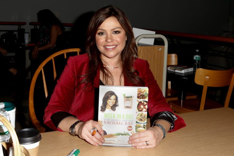 """HUNTINGTON, NY-DEC 4: Chef Rachael Ray signs her new book """"Week In A Day"""" at Book Revue on December 4, 2013 in Huntington, NY."""