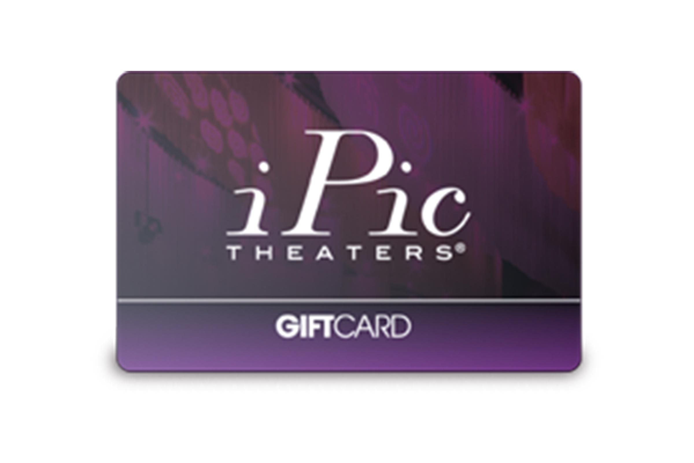 iPic theater giftcard