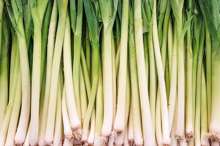 The vegetables; leek