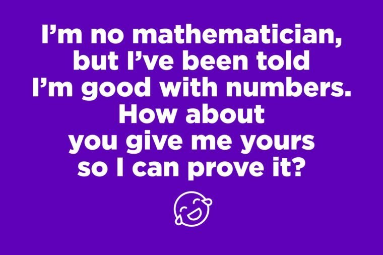 mathematician pick up line