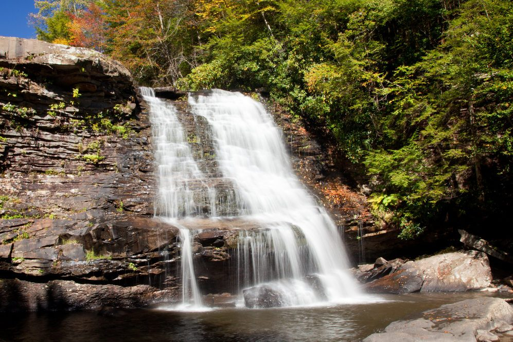 Muddy Creek falls in Swallow Falls State Park in Maryland USA