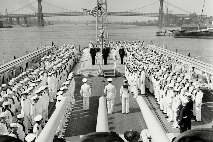 Pearl Harbor Sailor's Goodbye, New York, USA - 15 Jun 1938