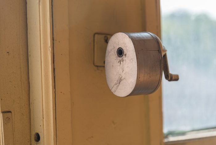 Pencil Sharpener Mounted on Wall