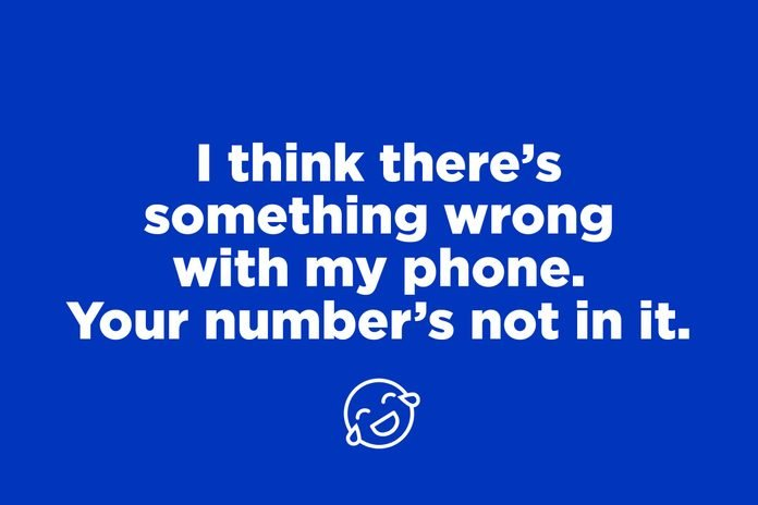 phone number pick up line