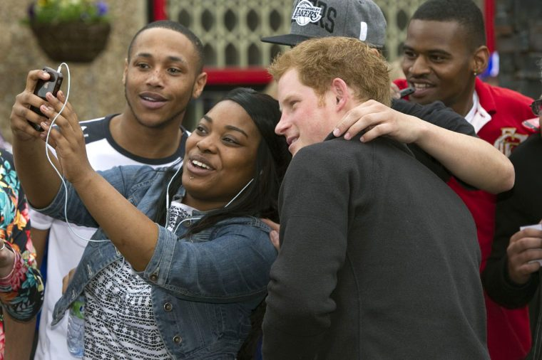Prince Harry on visit to Nottingham, Britain - 25 Apr 2013