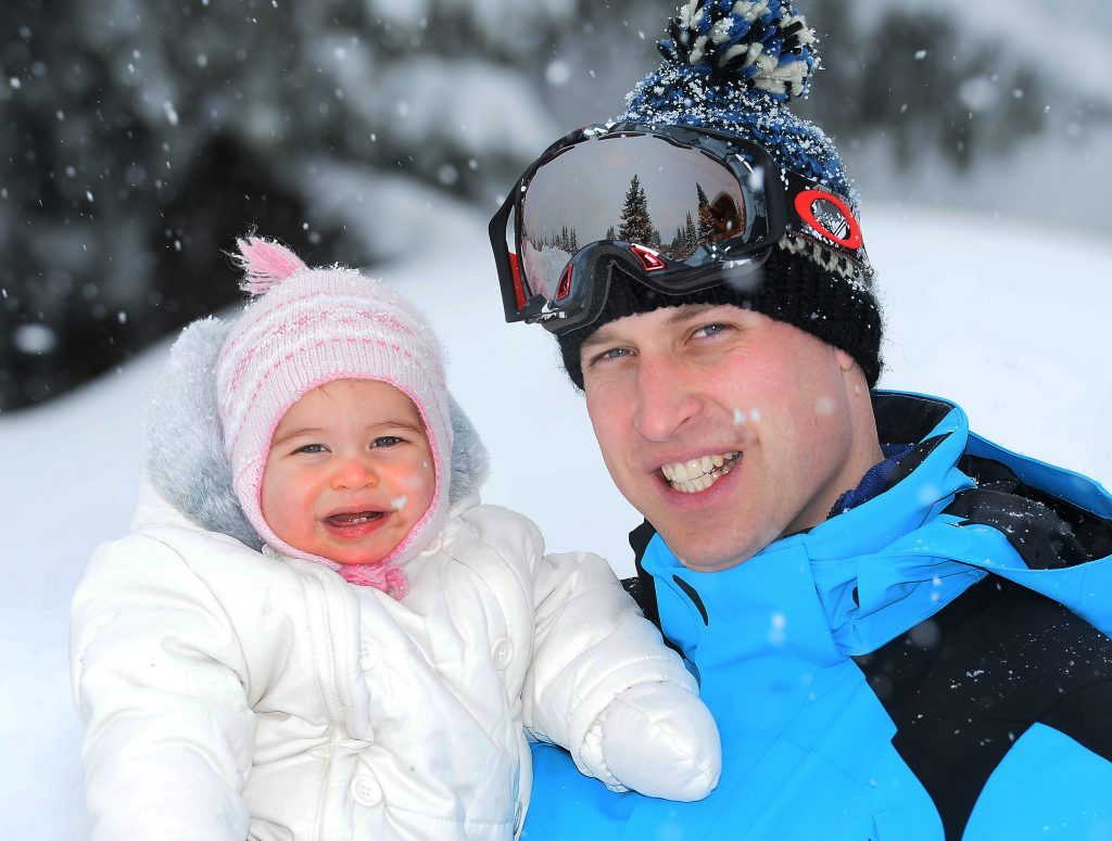 Prince William and Catherine Duchess of Cambridge on holiday in the French Alps - Mar 2016