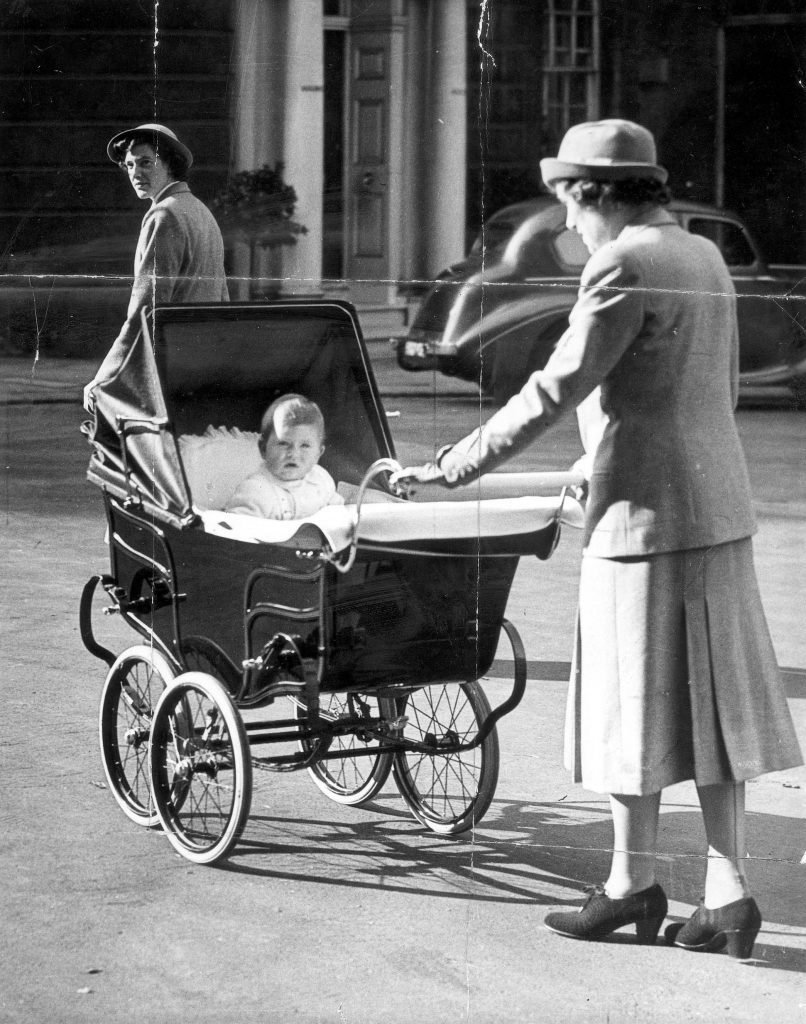 Princes Charles - The Prince Of Wales - October 1949 Prince Charles Out In His Pram....royalty